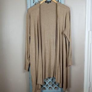 Tan Draping Sweater